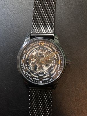 Luxury Automatic Watch Akribos XXIV (black and gold; retail $699) for Sale in Boston, MA