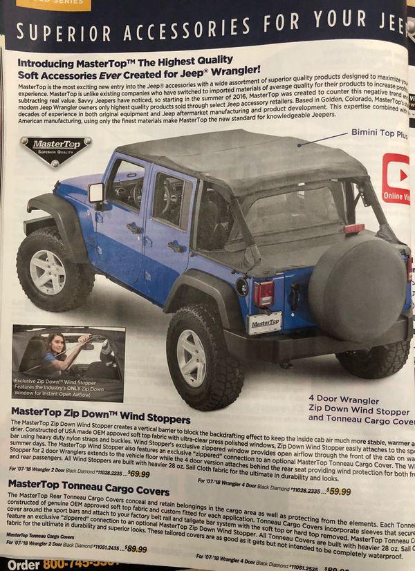 Jeep Bimini Top >> Jeep Wrangler Bimini Top For Sale In Saint Pete Beach Fl Offerup
