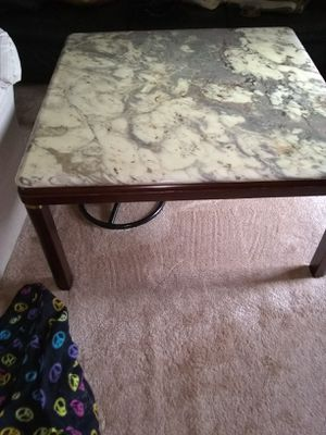 Modern Italian marble top coffee table 40x40 for Sale in Fort Belvoir, VA