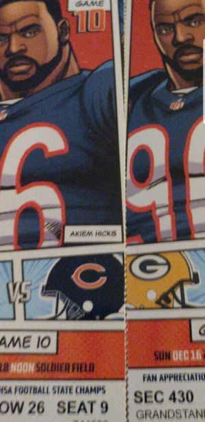 Bears vs Green Bay for Sale in Chicago, IL