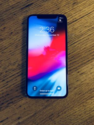 Apple iPhone X 256GB factory unlocked for Sale in Hyattsville, MD