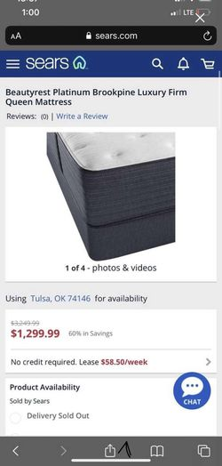 Display- Queen Size- Beautyrest Platinum Brookpine Luxury Firm with Box Spring Thumbnail