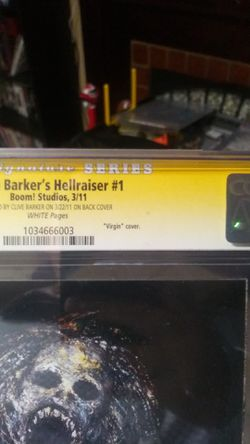 Hellraiser 1 limited edition Clive Barker signed rare comic Thumbnail