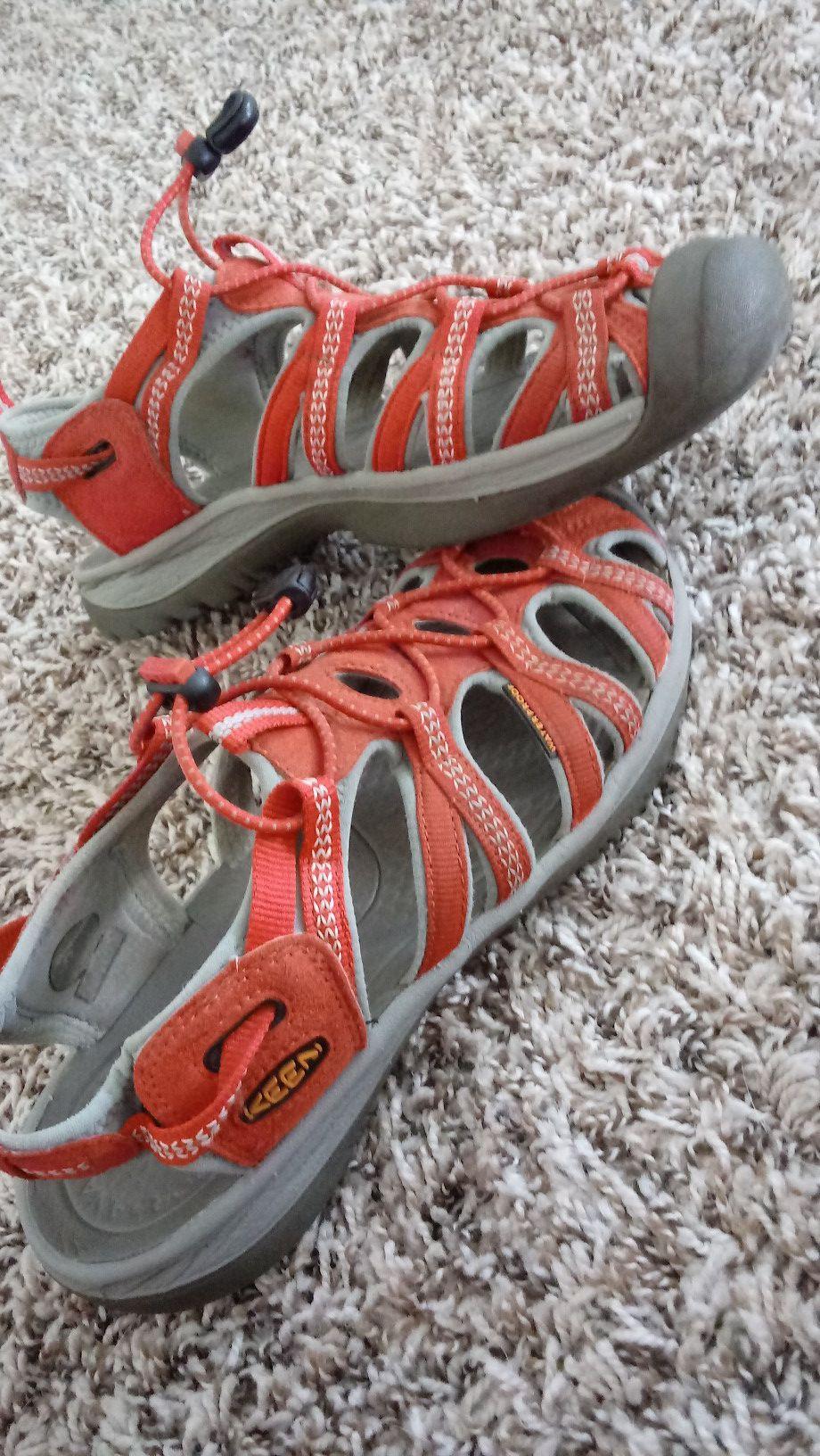 Red & Grey Keen Sandals Women's size 8.5 adjustable