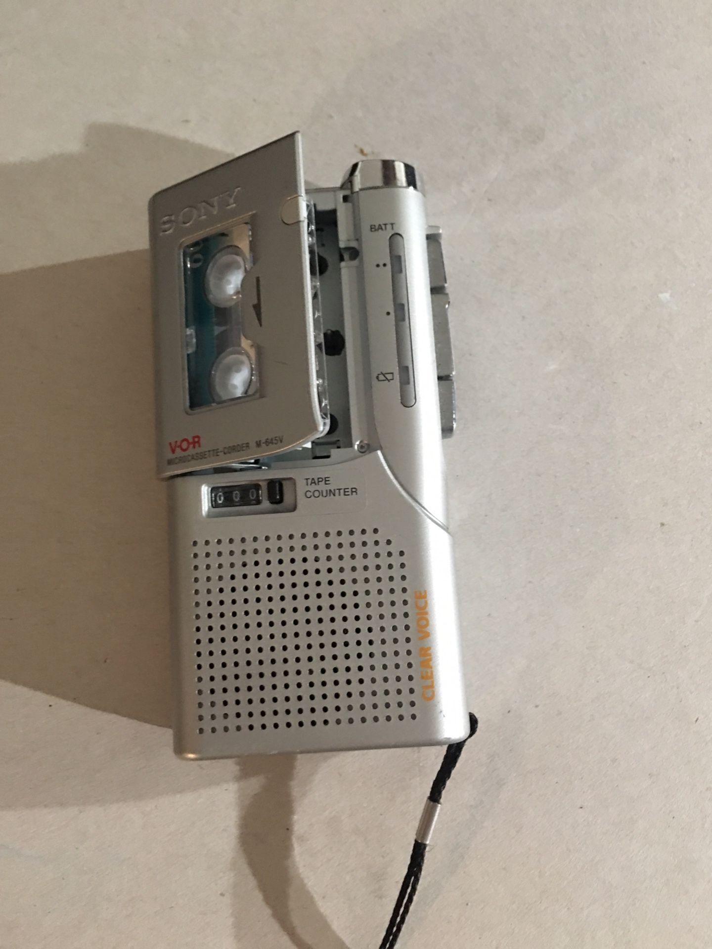 Sony M-645V microcassette recorder