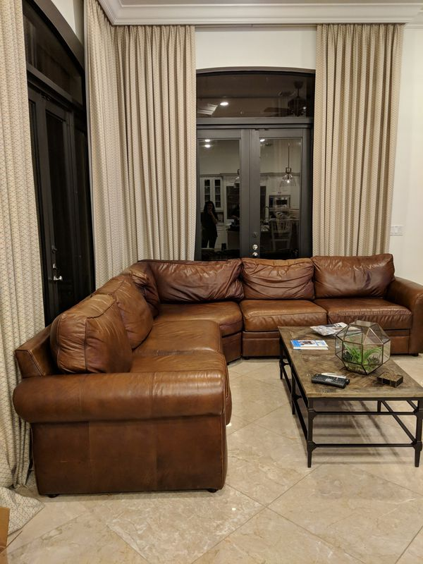 Pottery Barn Pearce Leather Sofa For Sale In Boca Raton Fl Offerup