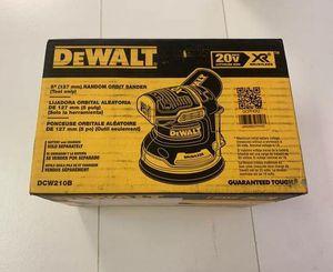 Photo FREE SAND PAPER! NEW DEWALT 20V MAX XR 5 ORBITAL SANDER ONLY