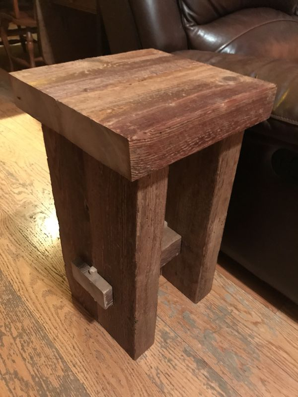 Reclaimed Barn Wood End Table for Sale in Leesport, PA - OfferUp