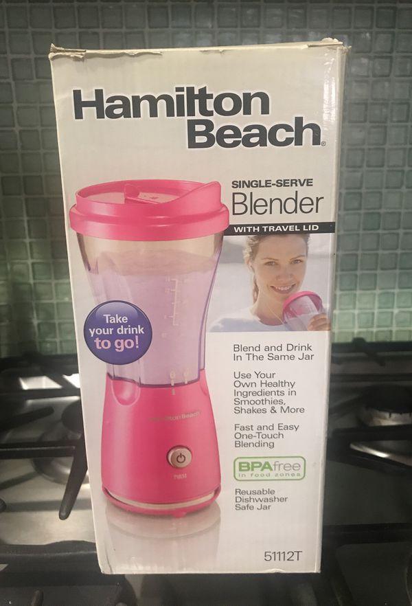 Hamilton Beach Single Serve Blender In Pink For Sale In Wildomar