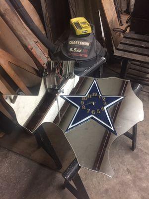 Custom Cowboys Clock Mirror for Sale in Houston, TX