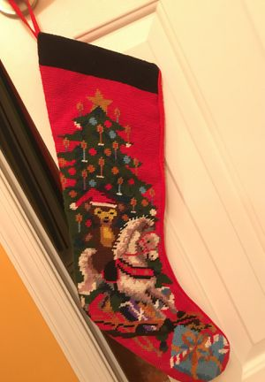Very Nice Needle Point Christmas Stocking with Rocking Horse. for Sale in Gainesville, VA