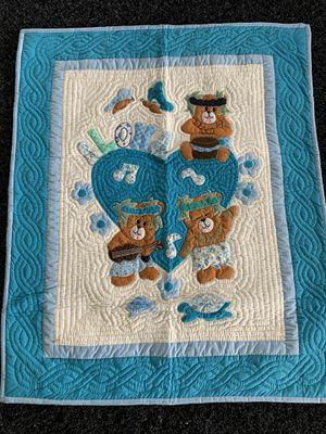 """Photo Aloha Bear Aqua Blue 42x52"""""""