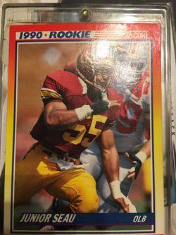 Junior seau rookie card 1990 Thumbnail