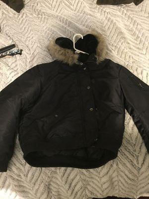 Woman's fur hoodie coat for Sale in Gaithersburg, MD
