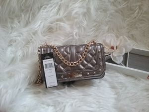 BCBG Paris Gunsmoke Gray and Gold Studded Mini Bag for Sale in Reno, NV