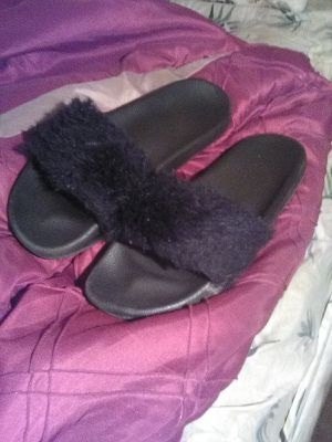 Fur flops size 11 for Sale in Powhatan, VA