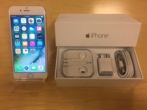 IPhone  6 Factory Unlocked + box and accessories + 30 day warranty for Sale in Springfield, VA