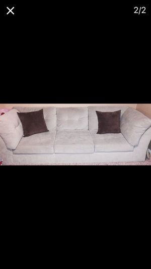 Light green sectional and beige massaged recliner chair. for Sale in Burke, VA