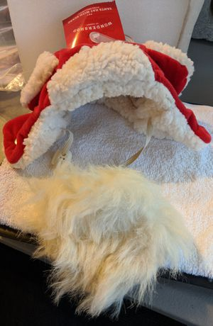 NEW XS/SM Dog Trapper Hat with Santa Beard for Sale in Columbus, OH