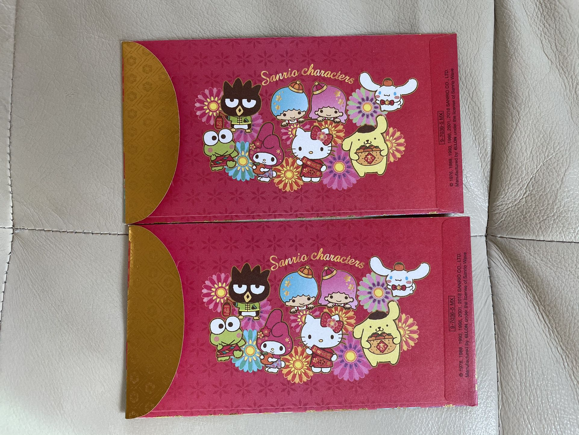 Brand New Sanrio Characters Hello Kitty, My Melody, Little Twin Stars Keroppi Chinese New Year Red/lucky Envelopes