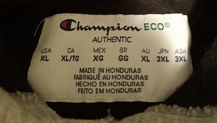 XL champion hoodie grey Thumbnail