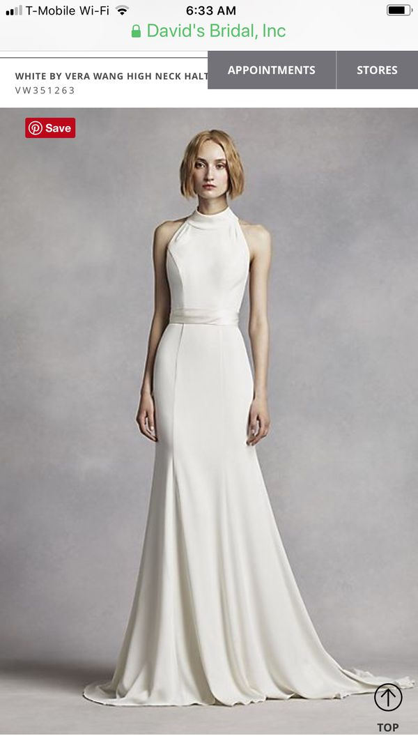 Vera Wang White wedding dress new size 10 xlong for Sale in ...