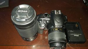 Nikon D3400 SLR with AF-P DX 18-55 and 70-300 lenses for Sale in North Andover, MA