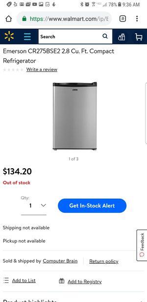 emerson refrigarator cr275bse2 2.8Cu for Sale in Phoenix, AZ