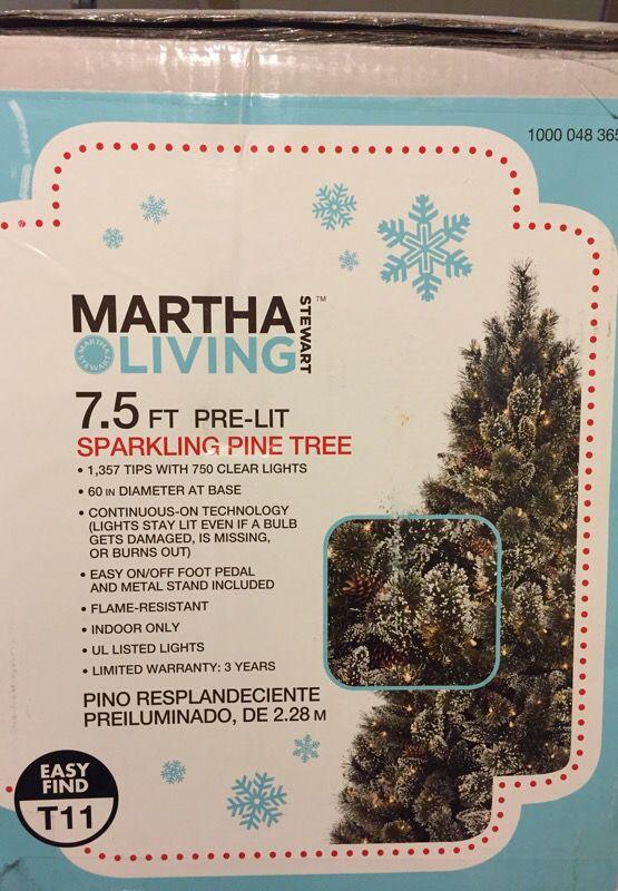 Martha Stewart Living 7.5ft Pre-lit Sparkling Pine Christmas Tree - Martha Stewart Living 7.5ft Pre-lit Sparkling Pine Christmas Tree
