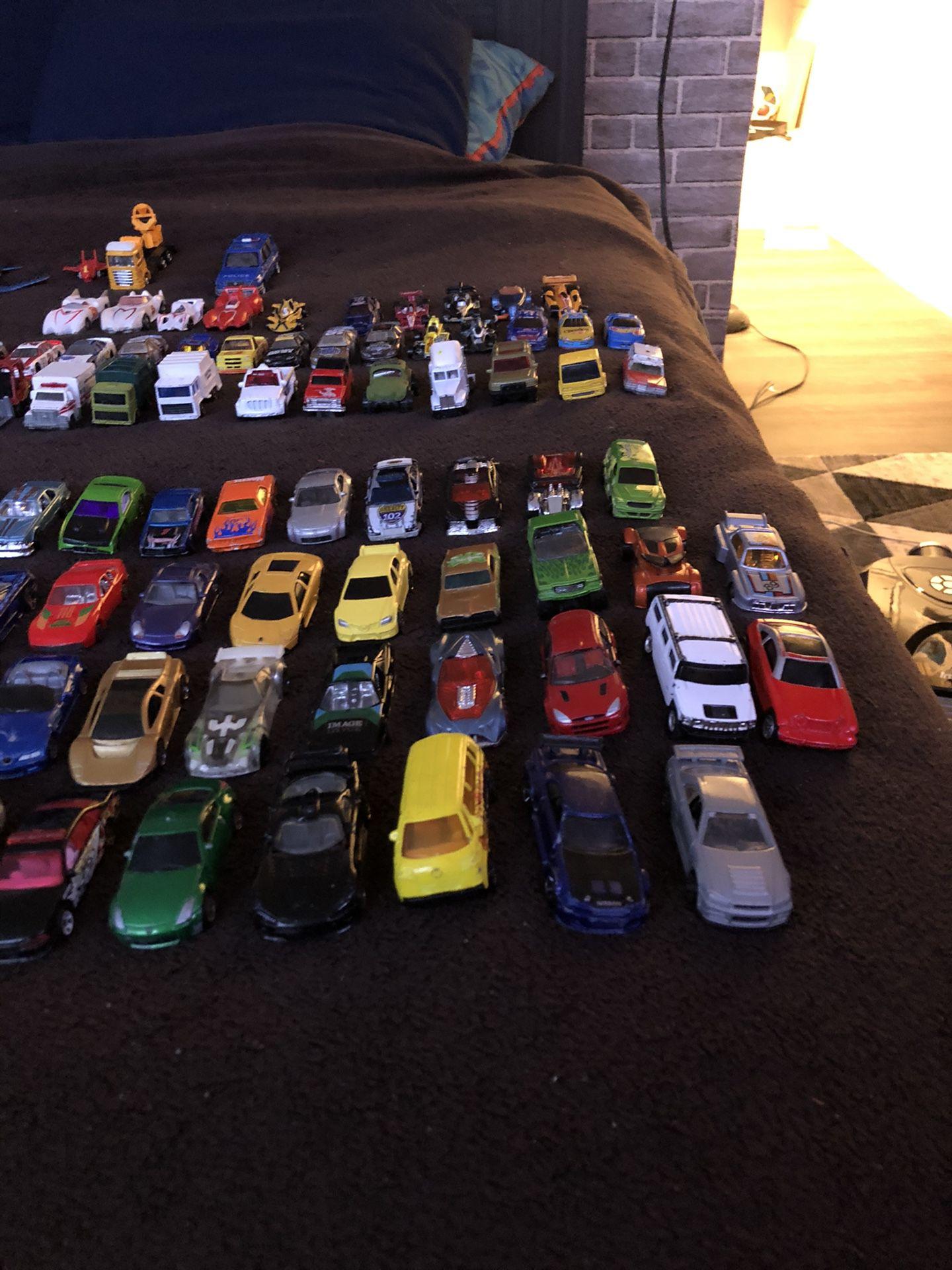 Toy cars, planes, trucks