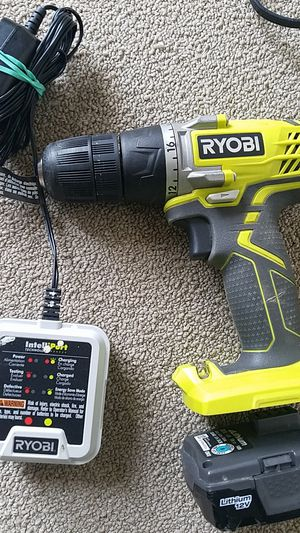 RYOBI 12 DRILL WITH CHRG & BATTERY for Sale in Baltimore, MD