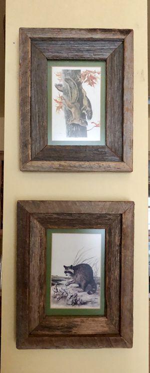 """LEE ADAMS Raccoon & Squirrels Prints 8.5"""" c 11"""" for Sale in Bradenton, FL"""