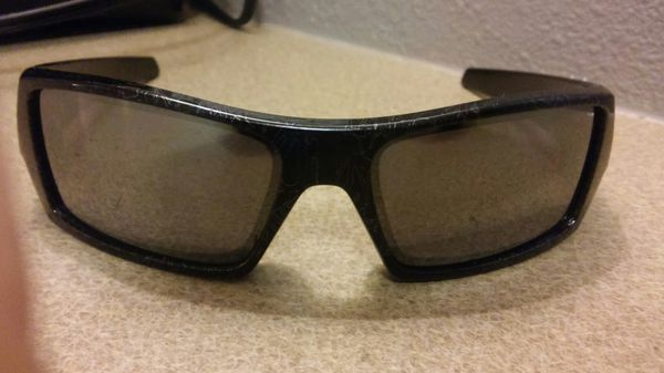 43be81d8dd OAKLEY GASCAN GHOST TEXT  RUBY IRIDIUM POLORIZED CUSTOM MADE SUNGLASSES  (Jewelry   Accessories) in Lynnwood