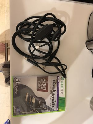 Xbox 360 rock smith and cord for Sale in Washington, DC