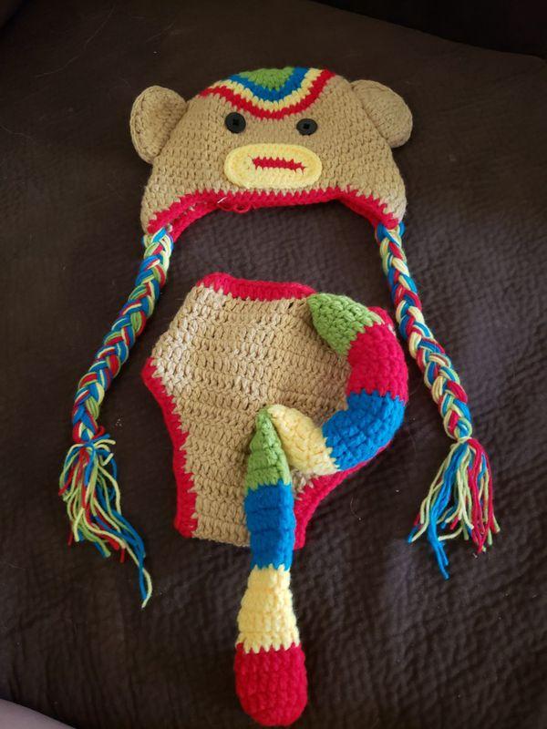 Crochet Sock Monkey Outfit For Sale In Glendale Az Offerup