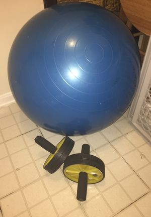 Exercise ball and Ab rollers for Sale in Silver Spring, MD