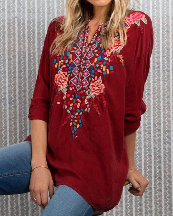 675d1de2ed0e7 New! Johnny Was Embroidered Blouse Sz Lg. New w Tags!  140. for Sale ...