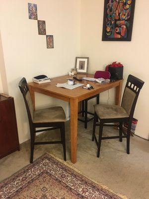 Moving sale - high dining table and two chairs for Sale in Silver Spring, MD