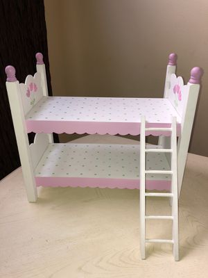"""Doll bunk bed and bedding for 18"""" American Girl Dolls for Sale in San Fernando, CA"""