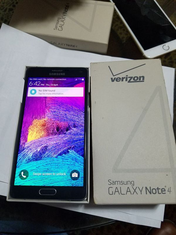 Samsung Galaxy Note 4 factory unlock Verizon carrier for Sale in Council  Bluffs, IA - OfferUp