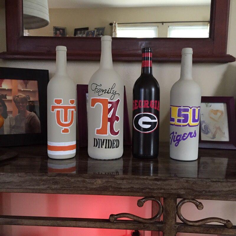 Decor wine bottles