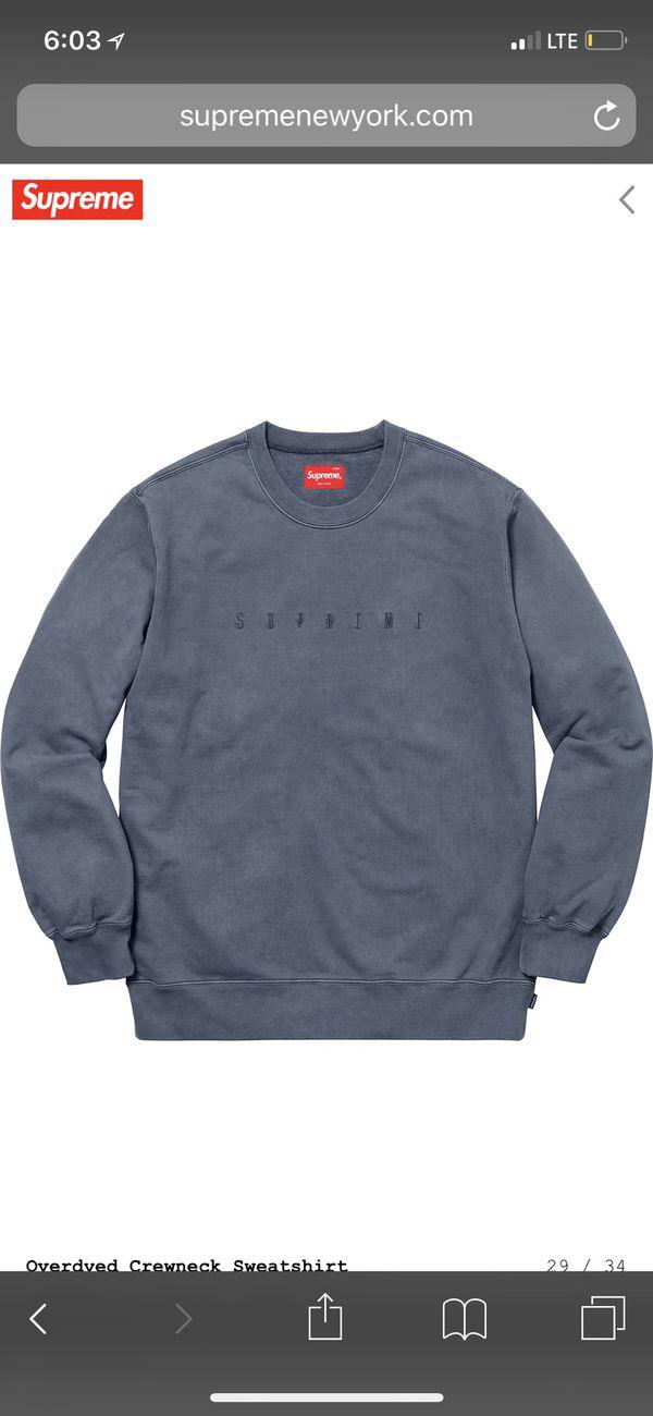 ffbdad61a44c Supreme Overdyed Crewneck Sweatshirt Black XL Deadstock for Sale in  Bellaire