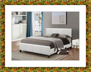 White platform bed with mattress free box and delivery all sizes for Sale in McLean, VA