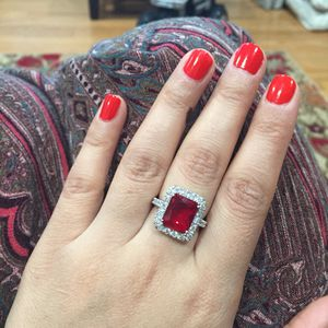 925 sterling silver plated garnet ruby ring for Sale in Silver Spring, MD