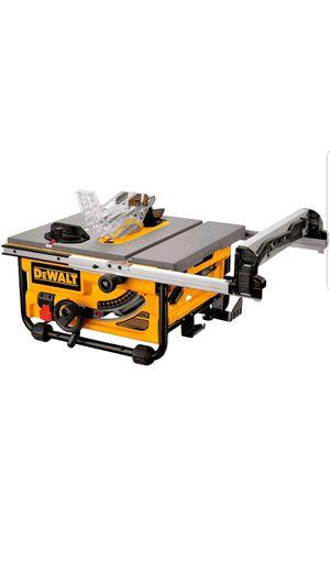 Dewalt DWE7480 10 in. 15 Amp Site-Pro Compact Jobsite Table Saw for Sale in Upper Marlboro, MD
