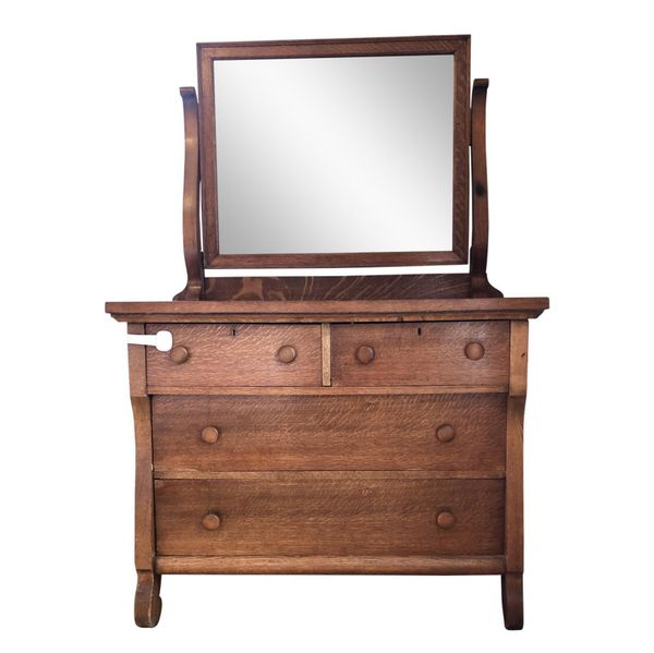 Antique Oak Dresser With Mirror For Sale In Brooklyn Ny Offerup