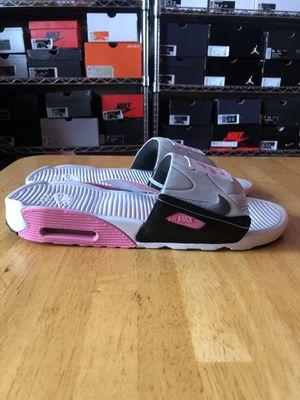 Photo Brand new Nike air Max 90 sandals slide white gray rose men's 10, 11, 12, 14