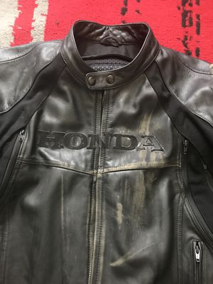 Leather Honda Motorcycle Jacket for Sale in Fort Washington, MD