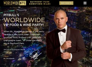 PITBULL'S WORLDWIDE New Year EVE Party tickets - 2 person, ONLY $450 VIP FOOD & WINE PARTY! for Sale in Miami, FL