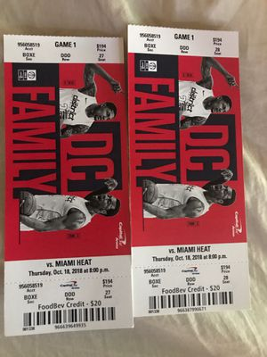 Wizards v. Heat tickets - OCT 18th for Sale in Washington, DC